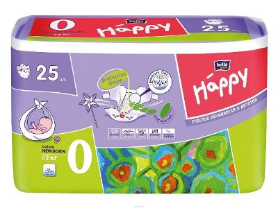 Подгузники Bella Baby Happy  Before Newborn до 2-х кг 25 шт/уп