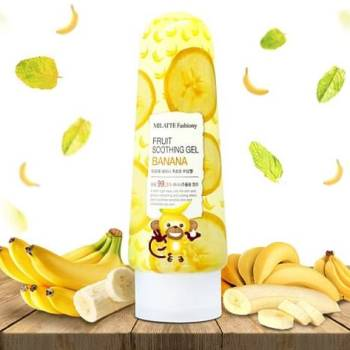 MILATTE Гель для лица и тела банановый FASHIONY FRUIT SOOTHING GEL - BANANA 200 мл