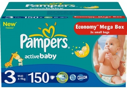 Pampers Подгузники Active Baby 3 (4-9 кг) 150 шт