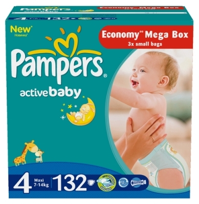 Pampers Подгузники Active Baby 4 (7-14 кг) 132 шт