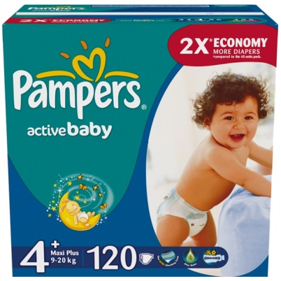 Pampers Подгузники Active Baby 4+ (9-16 кг) 120 шт