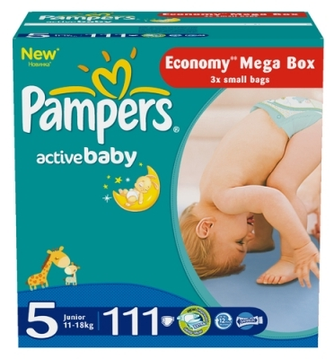 Pampers Подгузники Active Baby 5 (11-18 кг) 111 шт
