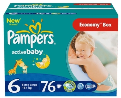 Pampers Подгузники Active Baby 6 (15+ кг) 76 шт